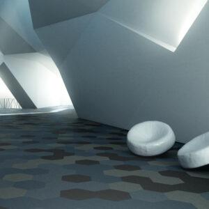 Fletco Sebastian Wrong méhsejt modulos padlószőnyeg