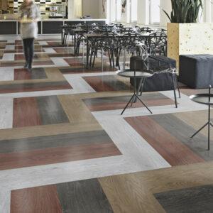 Flotex Wood moduláris padlószőnyeg