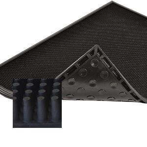 Sani-Trax szennyfogó szőnyeg szerkezete