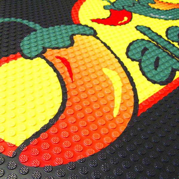 Super Scrape Impressions egyedi, HD nyomtatasú, nitrilgumi szennyfogó szőnyeg
