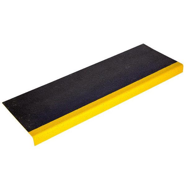 ClearSafe GRP-GRIT csúszásmentes lépcsőburkoló elem élvédővel